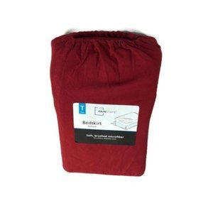 Mainstays Twin Size Red Microfiber Bedskirt